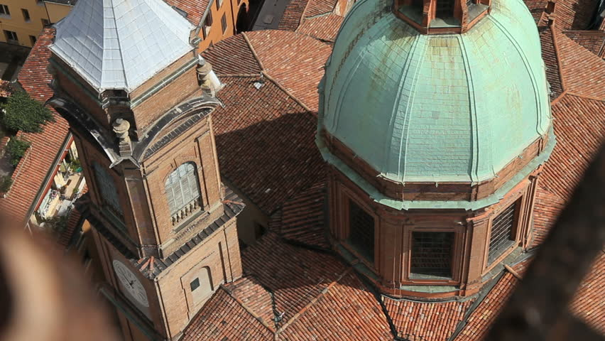 Bologna rooftop - HD stock footage clip