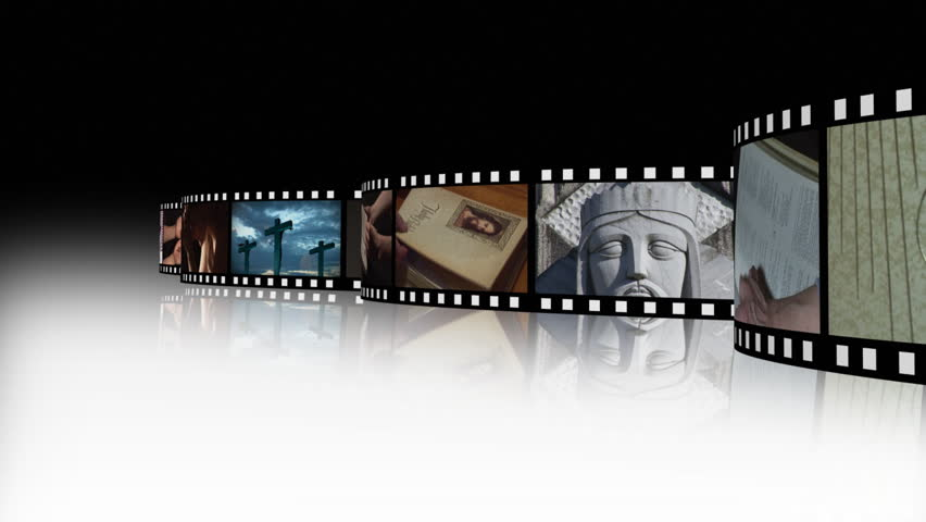 Film reel religious 2 - HD stock footage clip