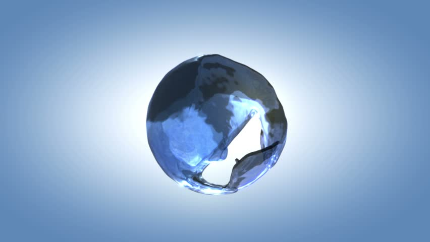 detailed clear water background, a drop of water splashing in the sphere (hd, 1080p, high definition)