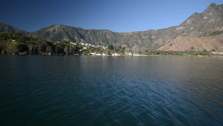 A boat ride on Lake Atitlan, Guatemala