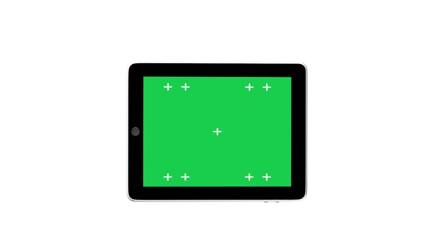 Digital tablet ipad with Green screen with alpha