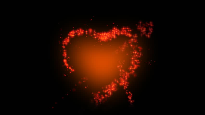 Design of red heart with arrow animation for Valentine's day - HD stock footage clip