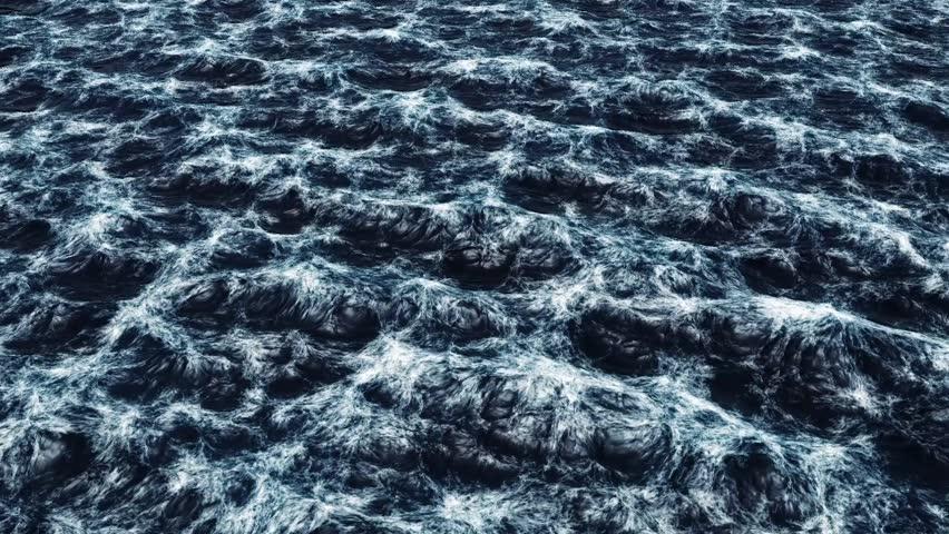 Realistic stormy ocean.