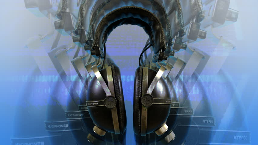 Loopable stopmotion of 70's retro headphones spinning around   Shutterstock HD Video #385216