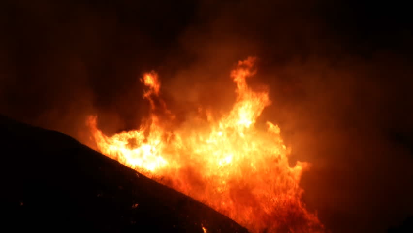 Raging Inferno on Hillside