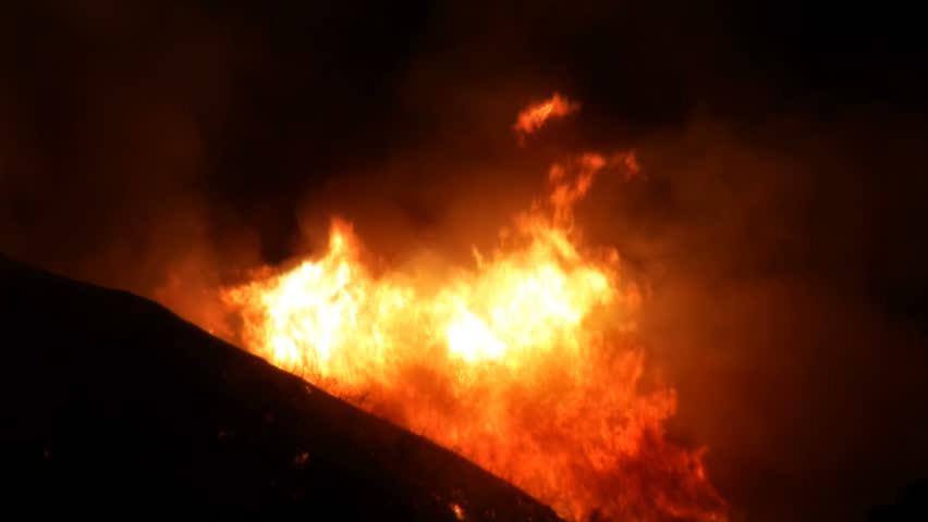 Raging Inferno on Hillside