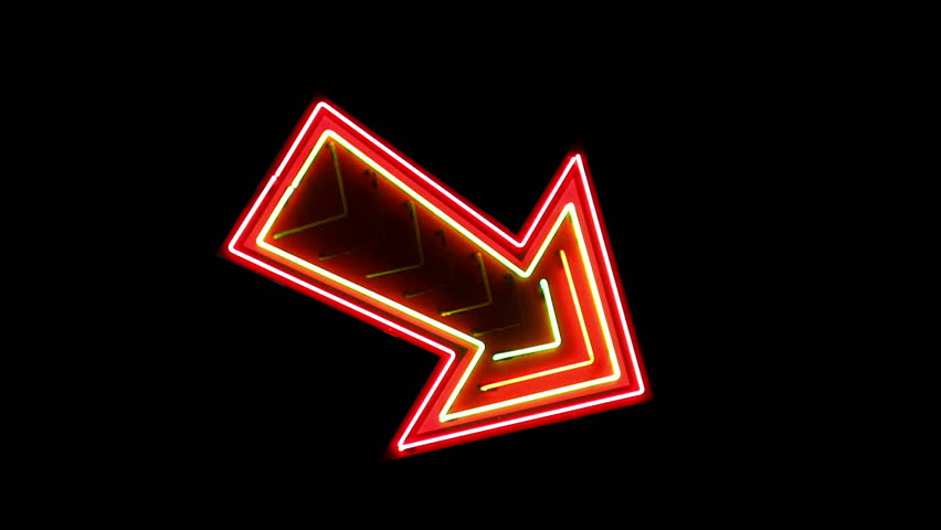 Vegas neon arrow sign