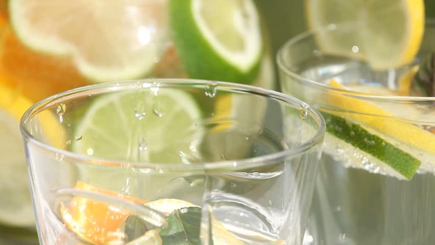 Slow Juicer Lemonade : Man Slicing Lemons Outside Stock Footage video 2541032 - Shutterstock