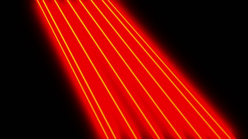 The black background. Running a luminous red line forms the shape of electric