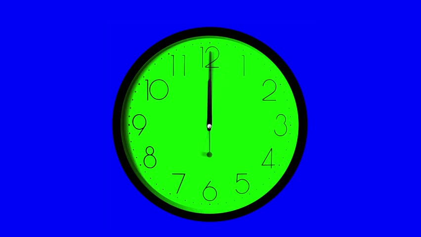 Wall Clock, Time Ticking Faster, Twelve hour time lapse, one second for each