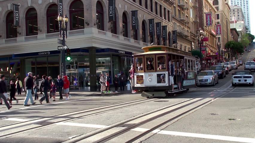 SAN FRANCISCO, - APRIL 04: Cable car at San Francisco. April 04, 2013 in San Francisco, California, USA.