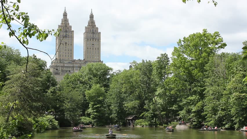 Row boats in Central Park | Shutterstock HD Video #3979528