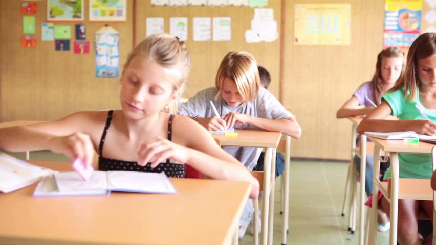 HD DOLLY: Smiling Schoolboy - HD stock video clip