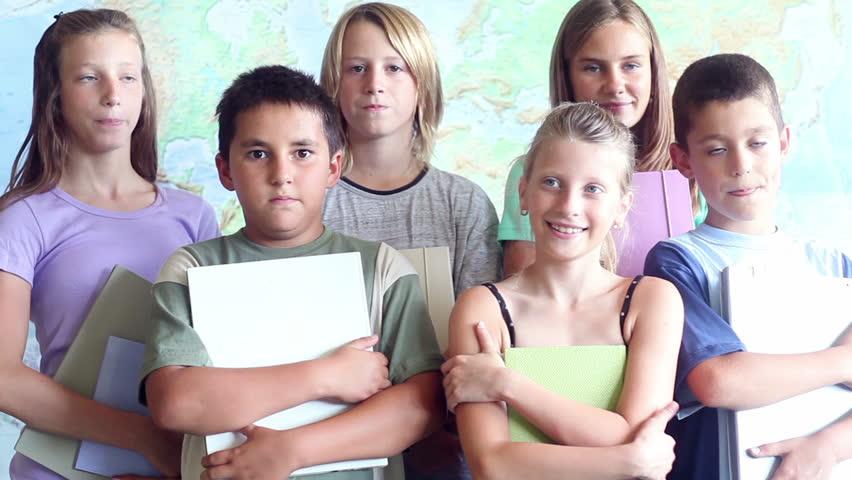 Elementary School Children - HD stock video clip
