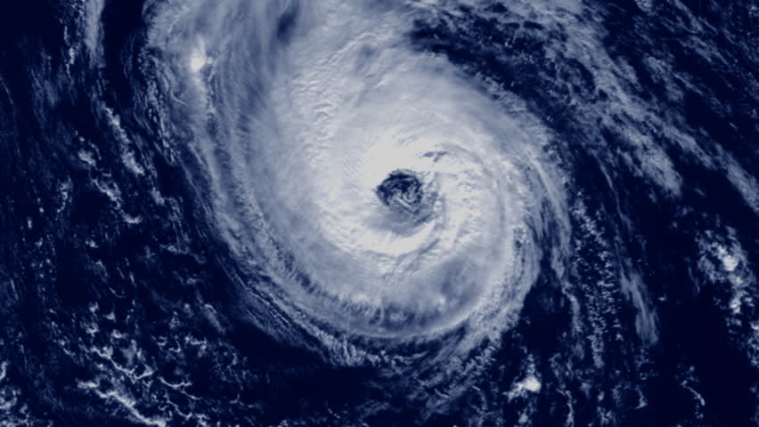 Large cloud hurricane animation, satellite perspective. | Shutterstock HD Video #399157