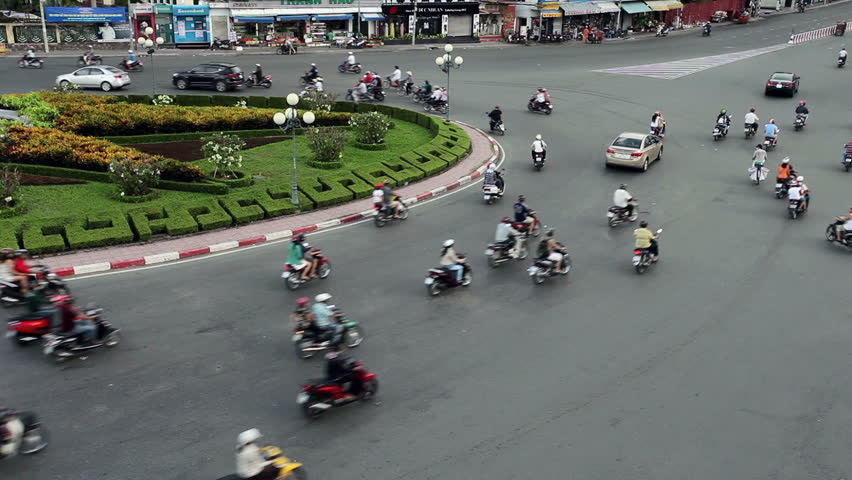 HO CHI MINH CITY - JUNE 2: Time Lapse of crazy traffic in Ho Chi Minh City,