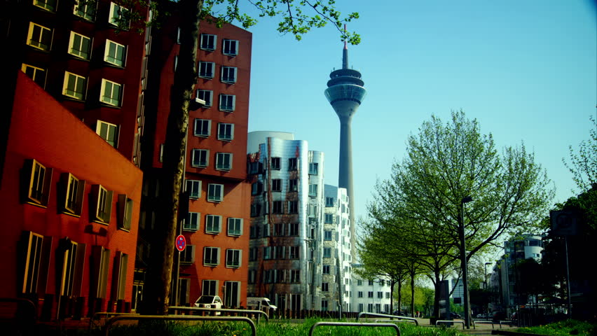 Postmodern Architecture Gehry dusseldorf, germany may 8: dusseldorf harbor is home to some