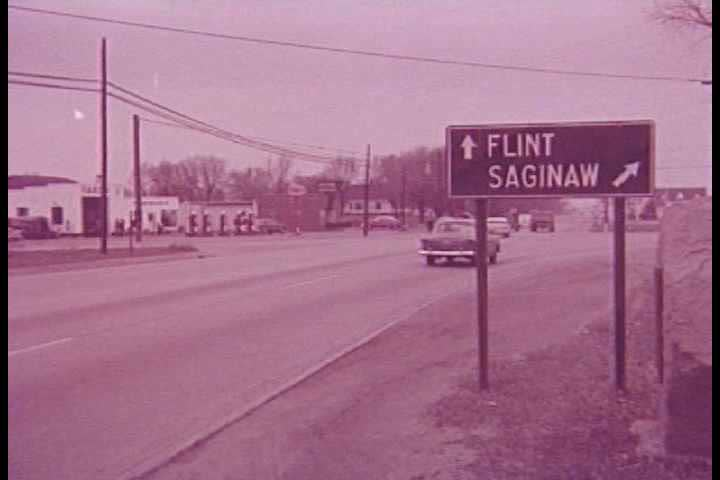 1950s Flint Michigan Is A Bustling City In This 1950s