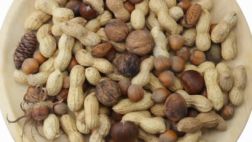 spinning nuts collection - HD stock footage clip