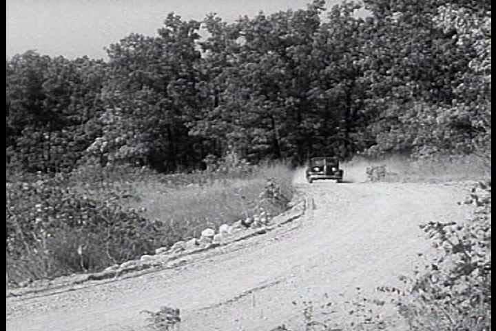 1930s - Chevrolet Leader News excerpt 1938. Farmer trades horse for modern car. - SD stock footage clip