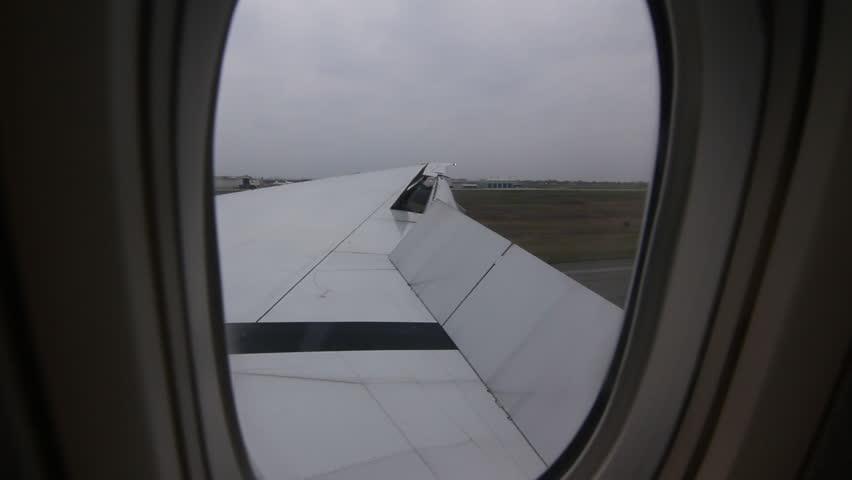 Landing at Pearson Airport in Toronto, Ontario, Canada.  - HD stock video clip