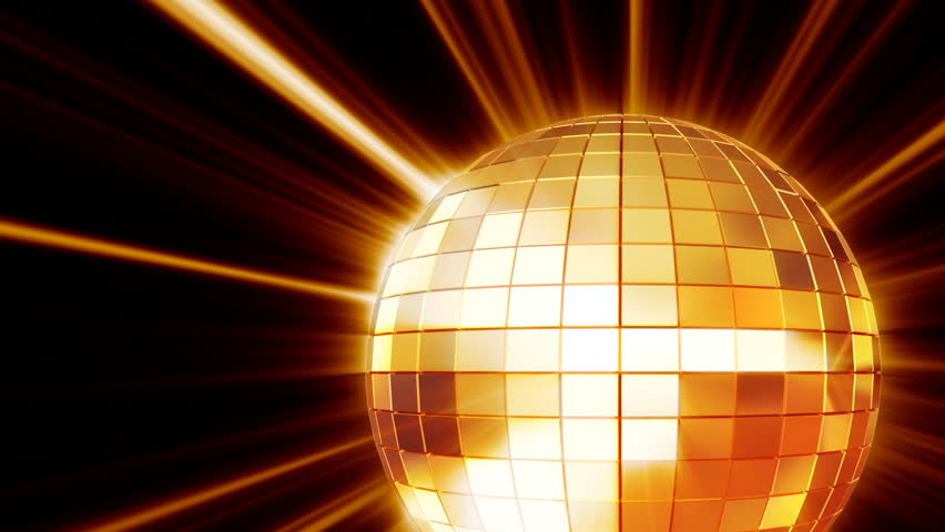 Pink Disco Ball Against A Black Background Stock Footage