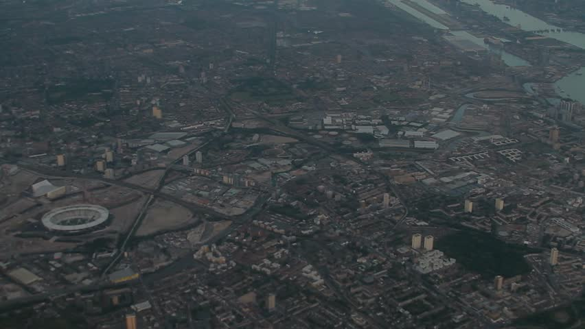 Aerial view Manchester City