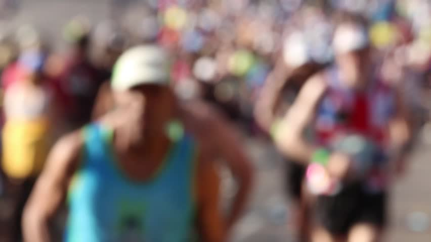 Runners defocused