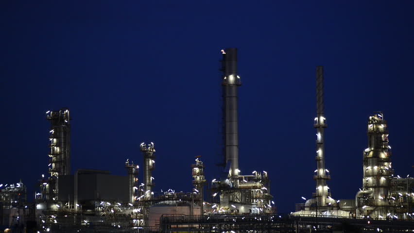 Oil refinery - HD stock footage clip