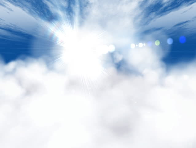 Flight through the clouds - SD stock footage clip