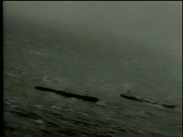 View from the airplane of sinking british ship Ambassador and international rescue ships in Halifax, Nova Scotia, Canada circa 1964-MGM PICTURES, UNIVERSAL-INTERNATIONAL NEWSREEL, USA, filmed in 1964 - SD stock video clip
