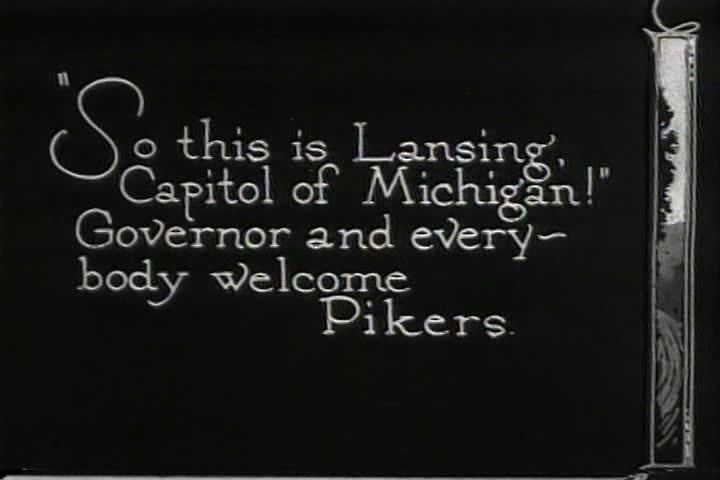 1920s - Lansing, Michigan, 1924. - SD stock footage clip
