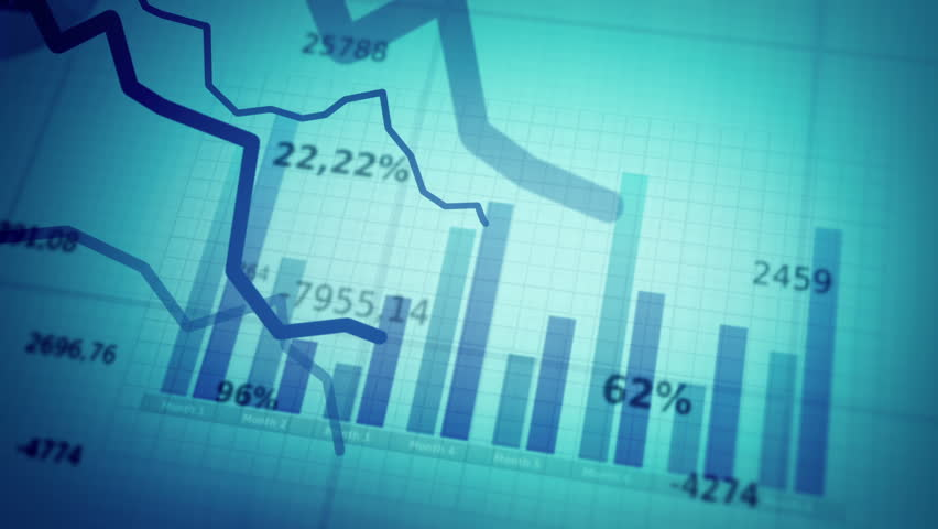 Decreasing charts. Blue-cyan. Loopable. Colorful financial diagrams showing a decreasing tendency. Two colors to choose. NEW IMPROVED 4K VERSION IN MY PORTFOLIO. | Shutterstock HD Video #4090597