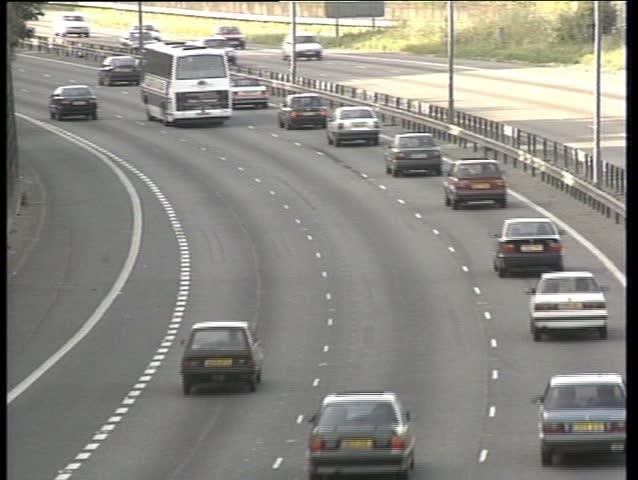 M25 motorway traffic - SD stock video clip