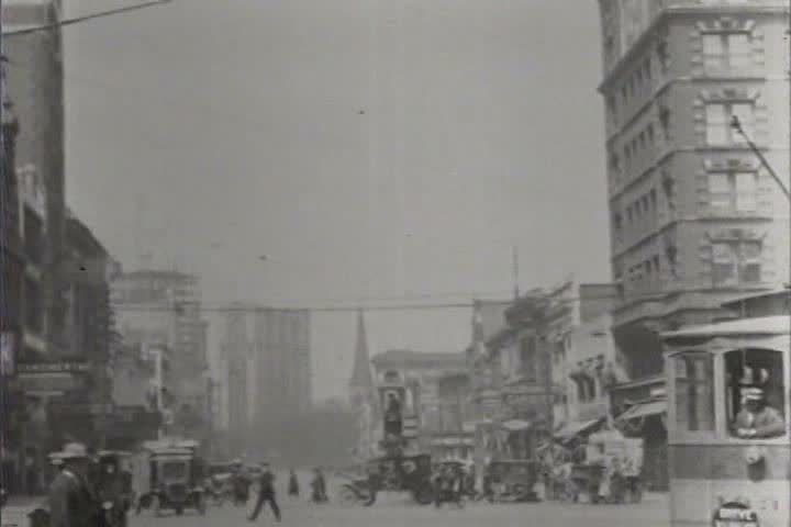 1920s - Good shots of Detroit, Michigan in 1921. - SD stock video clip