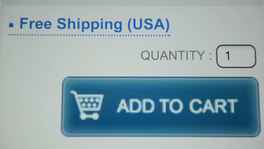 Finger touching Add to Cart button on a tablet computer screen - HD stock footage clip