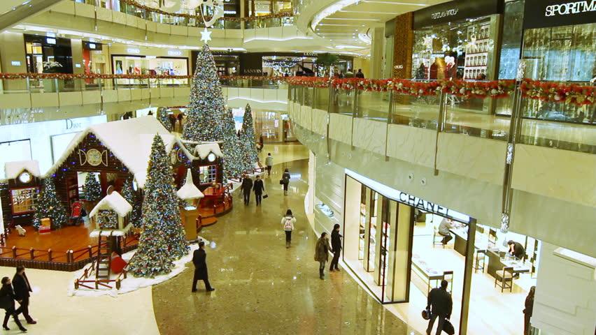 SHANGHAI - DECEMBER 17: Christmas in Shanghai shopping mall. shot on December