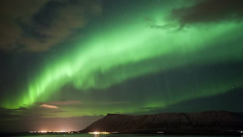 Time laps from the Aurora Borealis over Iceland in march 2013