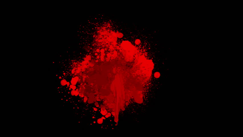 red blood on black background stock footage video 4275047