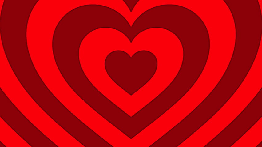 Seamless Looping Red and White Heart Animated Background - HD stock video clip