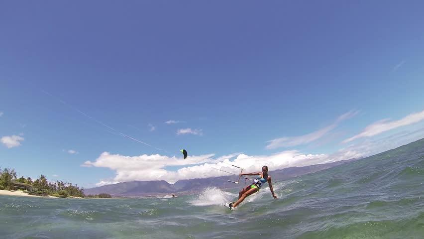 Kite Boarding, Fun in the ocean, Extreme Sport HD Video | Shutterstock HD Video #4167322