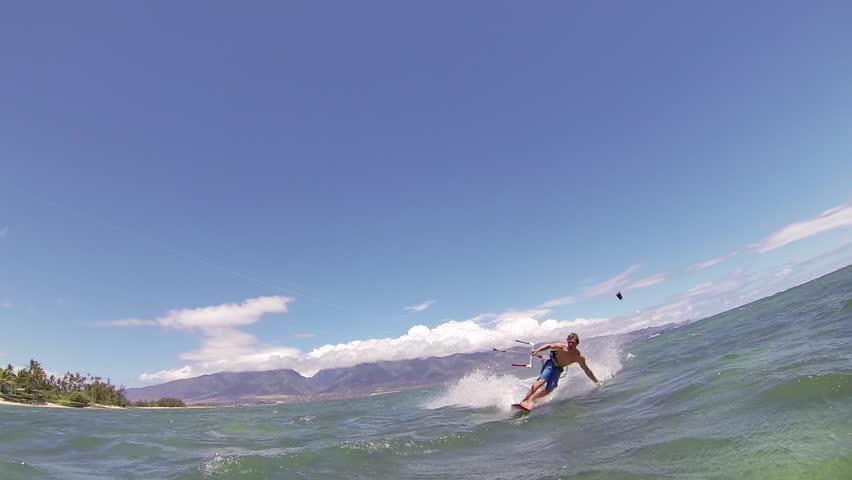 Kite Boarding, Fun in the ocean, Extreme Sport HD Video | Shutterstock HD Video #4167367