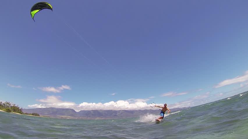 Kite Boarding, Fun in the ocean, Extreme Sport HD Video | Shutterstock HD Video #4167376