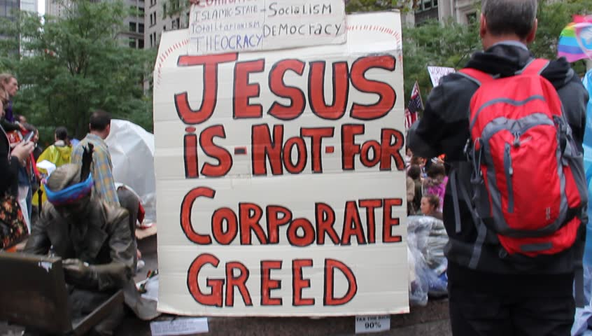 NEW YORK - CIRCA 2011: Occupy Wall Street Protest  in New York City - HD stock video clip