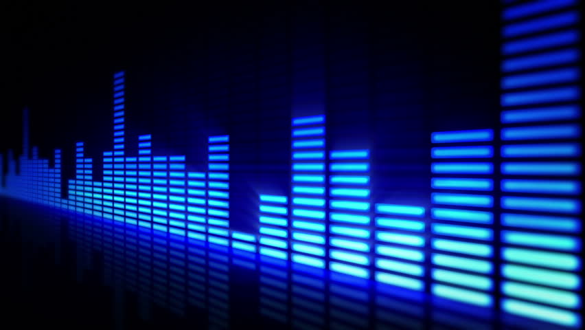 Audio equalizer. Loop-able. Multicolored. - HD stock video clip