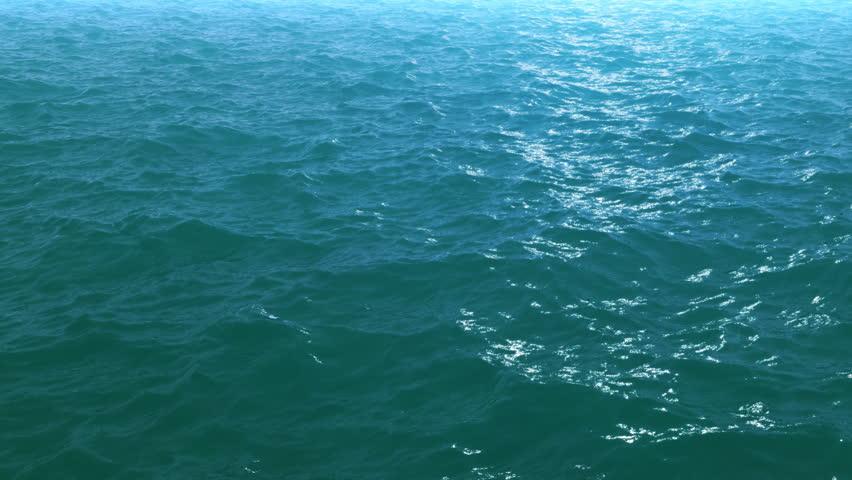 Calm ocean waves  - HD 1080p resolution perfect loop - HD stock footage clip