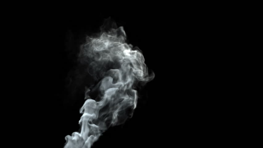 Smoke stack loop, HD 1080p, seamless loop with alpha, isolated on black background