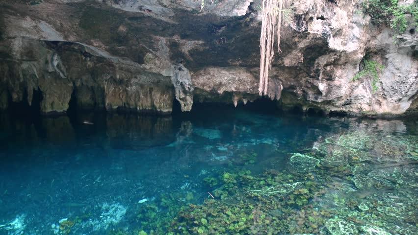 Sacred Mayan Cenote in Yucatan Peninsula, Mexico