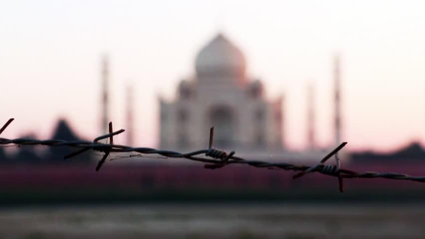 Zoom in shot of the Taj Mahal, Agra, Uttar Pradesh, India - HD stock video clip