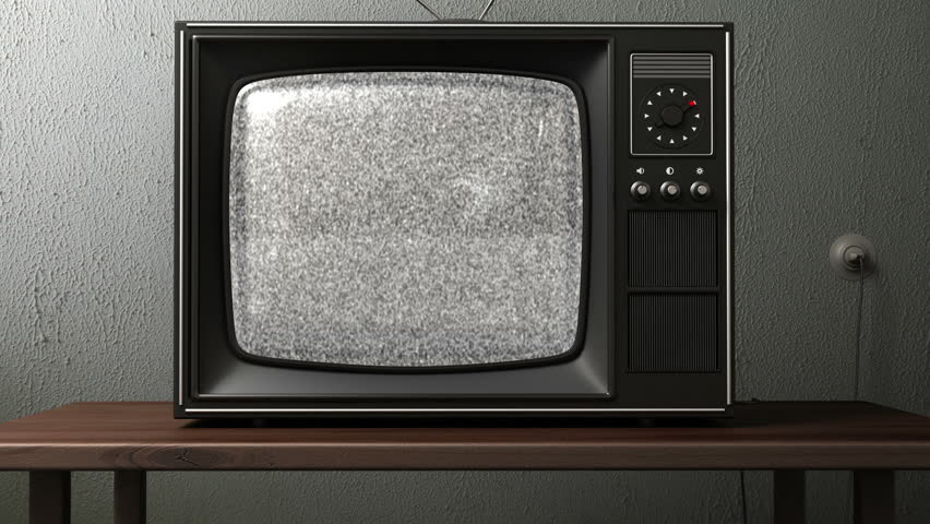 old TV. switching channels - HD stock video clip